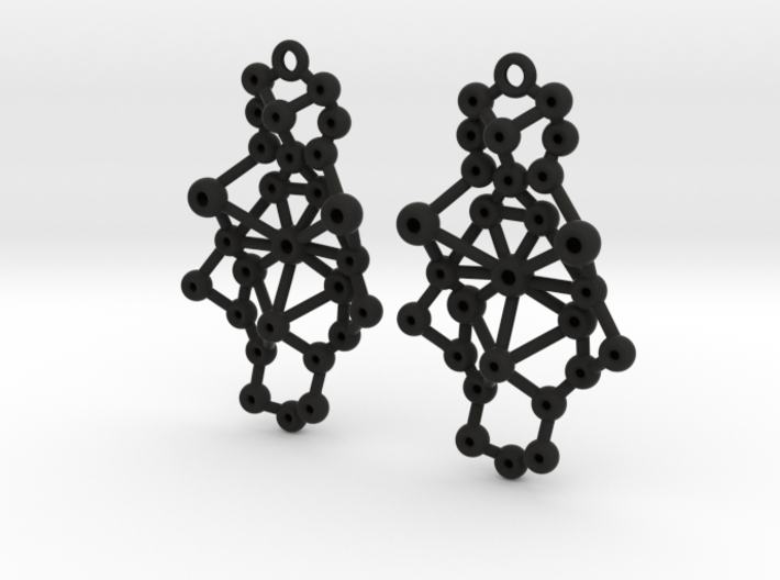 Amorphe Molecular Earrings - Chemistry Jewelry 3d printed