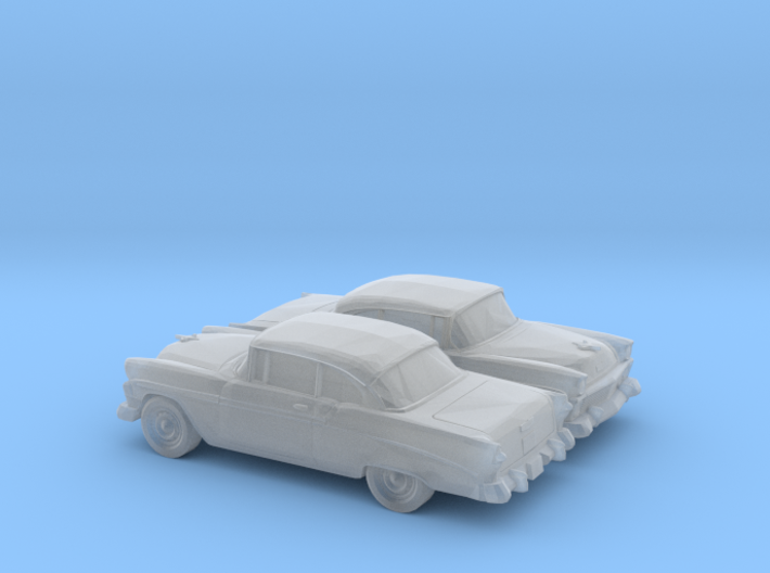 1-160 2X 1956 Chevrolet Bel Air Coupe 3d printed