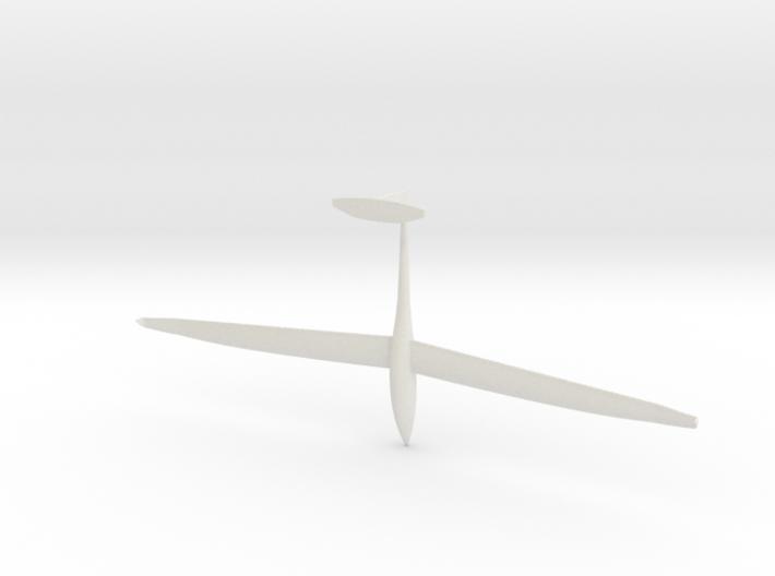 1/87th scale DG Flugzeugbau DG-1000 glider 3d printed