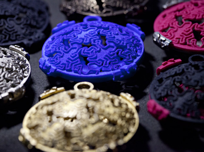 Reptile Pattern Pendant Interlocket FRONT (require 3d printed Photo with other prints, each sold separately.