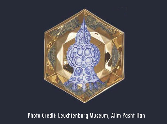 Spiroidea Radiolarian figurine 3d printed Alim Pasht-Han's painting of Spiroidea