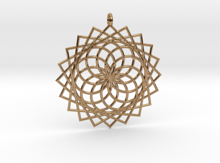 Flower of Life - Pendant 4 3d printed
