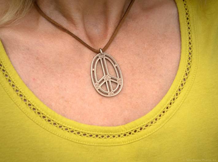 Peace Connection 3d printed Stainless Steel