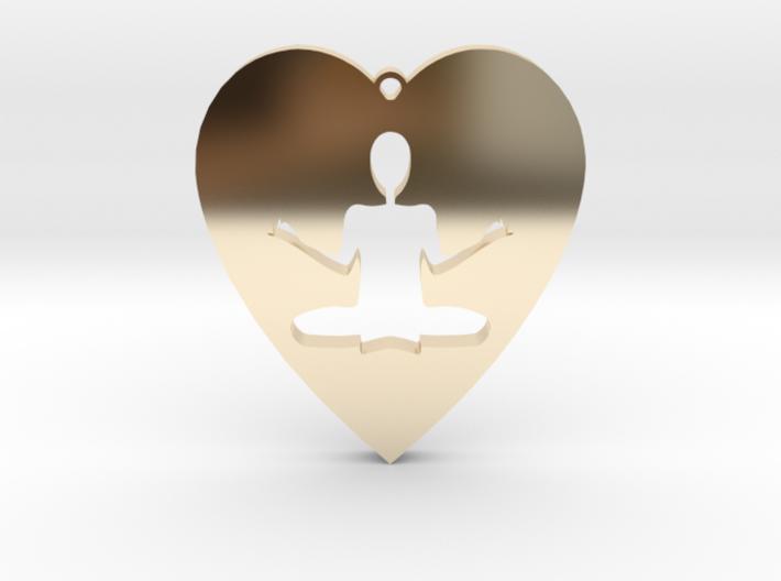 Meditation Pendant 3d printed