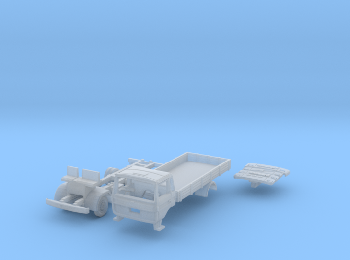 Club-of-4 Flat bed (British N 1:148) 3d printed