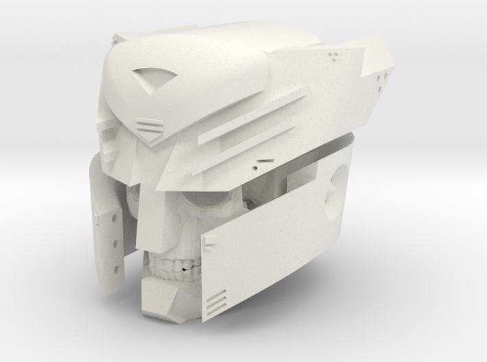 """""""Undead Autobot"""" custom 1:6th scale head 3d printed"""