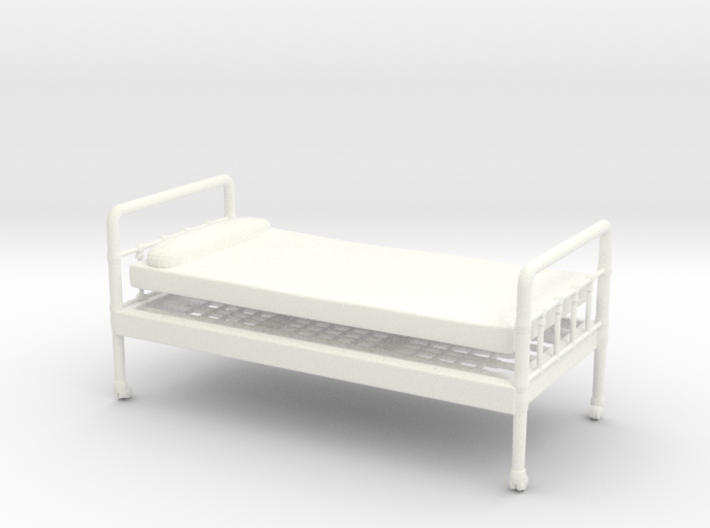 Bed 01. 1:24 scale 3d printed Bed in 1:24 scale