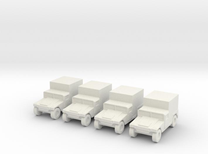 1/200 Humvee M1037 set of 4 3d printed