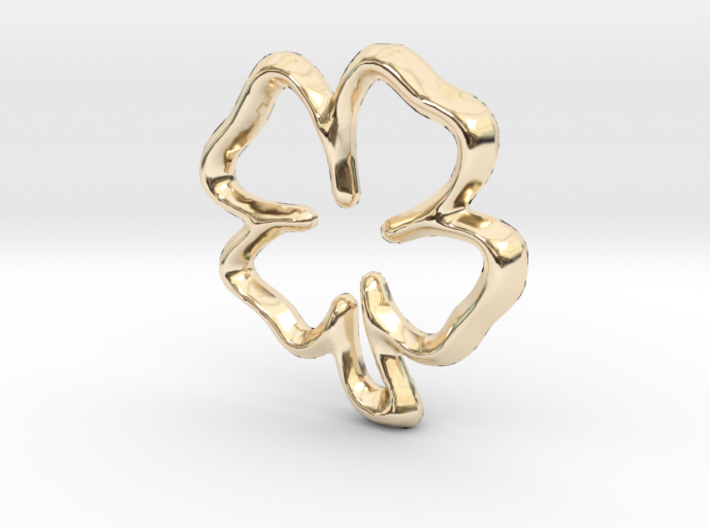 Lucky Clover Charm - 11mm 3d printed