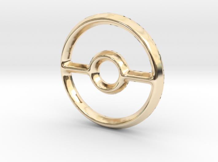 Pokeball (Open) Charm - 11mm 3d printed