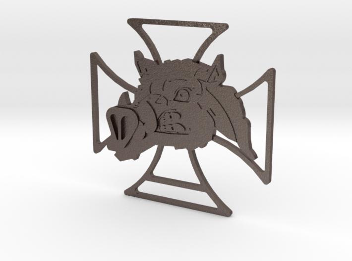 Renegade Pigs Motorcycle Club Badge frame cross v1 3d printed