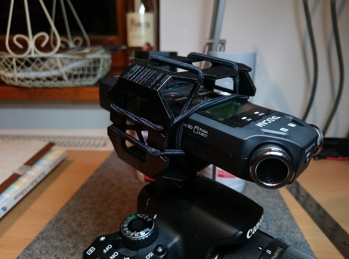 DSLR Microphone mount 3d printed