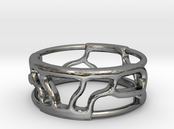 Organic roots Ring V1 3d printed