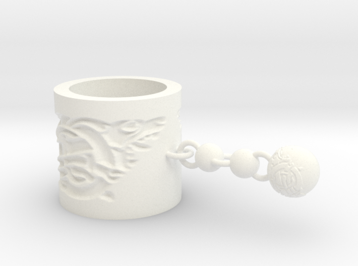 Norse Scarf Ring (short) 3d printed