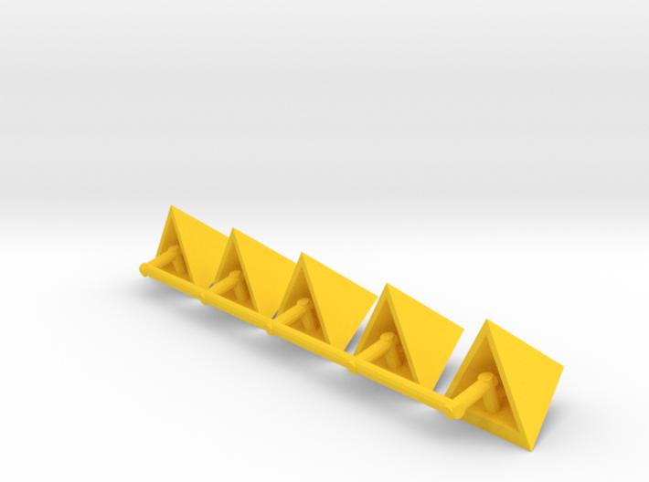Tetrahedron Capstones (x5) 3d printed