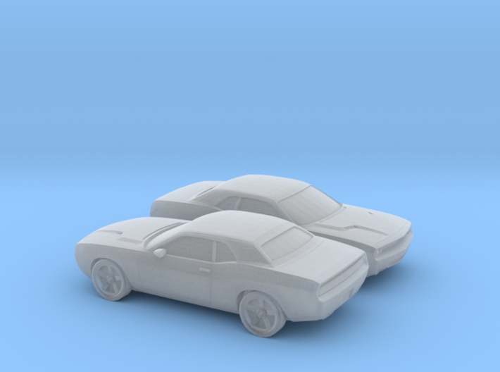 1/160 2X 2009 Dodge Challenger 3d printed