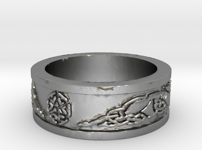 Norse Shield Ring Size 12.5 3d printed