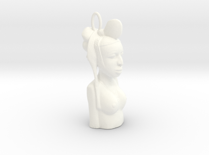 African Bust Pendant 3d printed