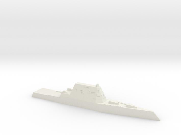 USS Zumwalt, 1/2400 3d printed