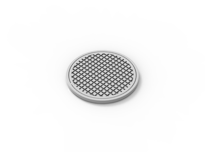 Manhole cover 01. HO Scale (1:87) 3d printed Manhole cover in HO scale (1:87)