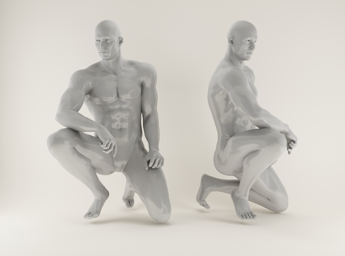 2016006-Strong man scale 1/10 3d printed