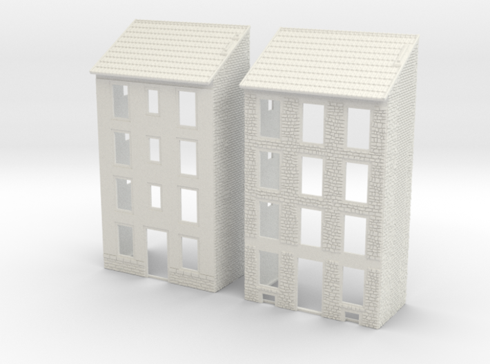 NVIM02 - City buildings 3d printed