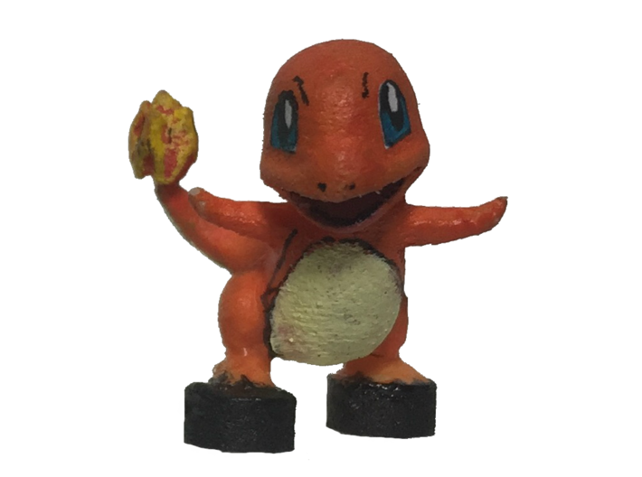 Custom Charmander Pokemon Inspired Lego 3d printed