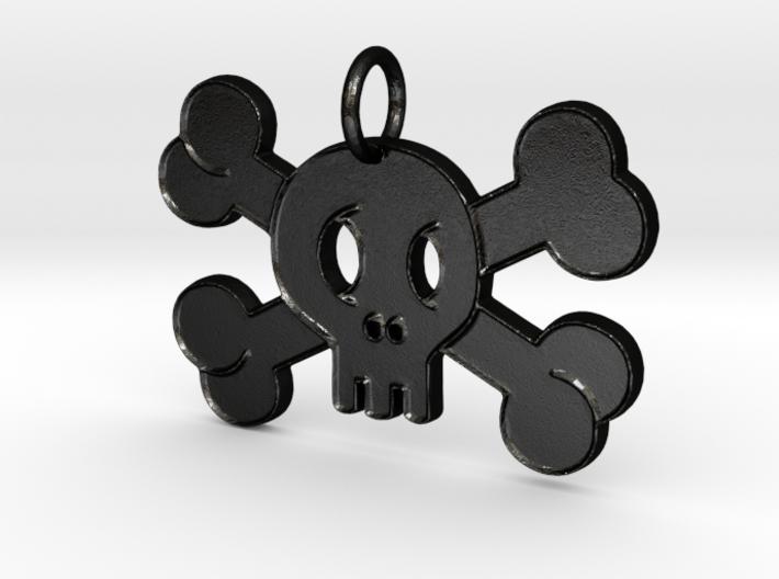 Cute Skull With Bones Pendant Charm 3d printed