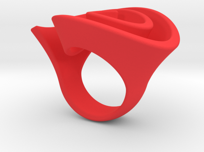 Curly Rose Ring 16.5mm 3d printed Curly Rose Ring