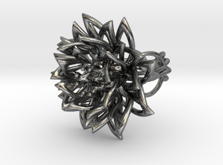 Ring the Chrysanthemum / size 6 US (16,5 mm) 3d printed