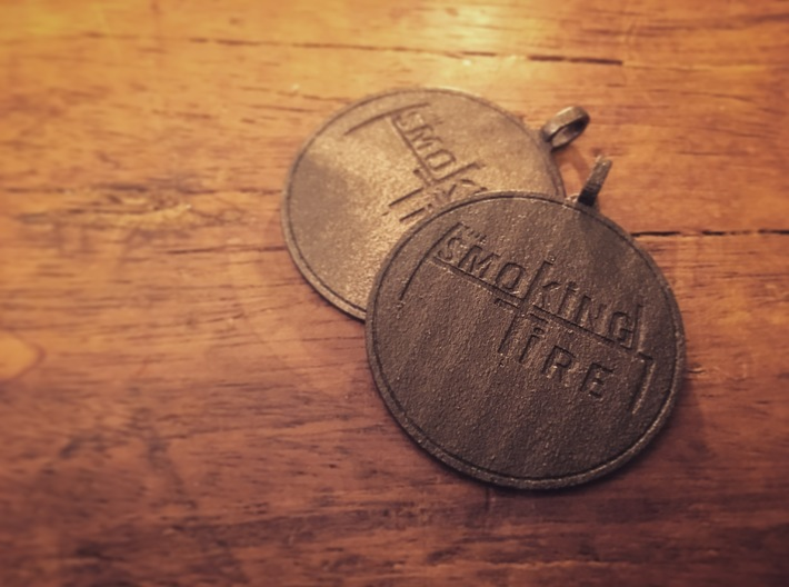 The Smoking Tire Keychain 3d printed
