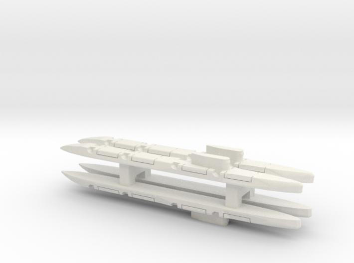 Echo-Class SSGN x 4, 1/2400 3d printed