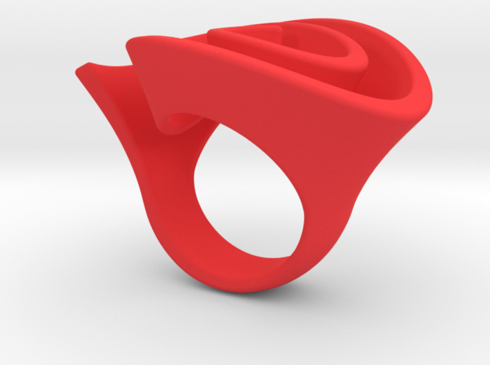 Curly Rose Ring 17.5mm 3d printed