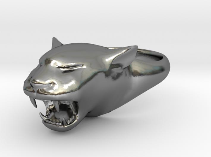 Cougar-Puma Ring , Mountain lion Ring Size 12 3d printed