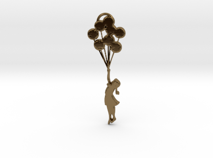 Banksy Girl with Balloons 3d printed