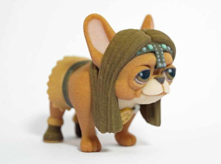 Frenchie The Barbarian  3d printed