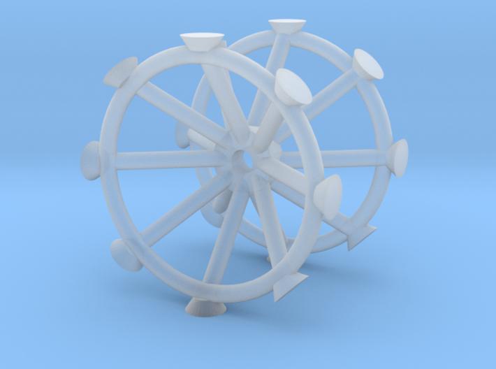 Antenna - Observatory Upper Row V0.2 (1/700) 3d printed