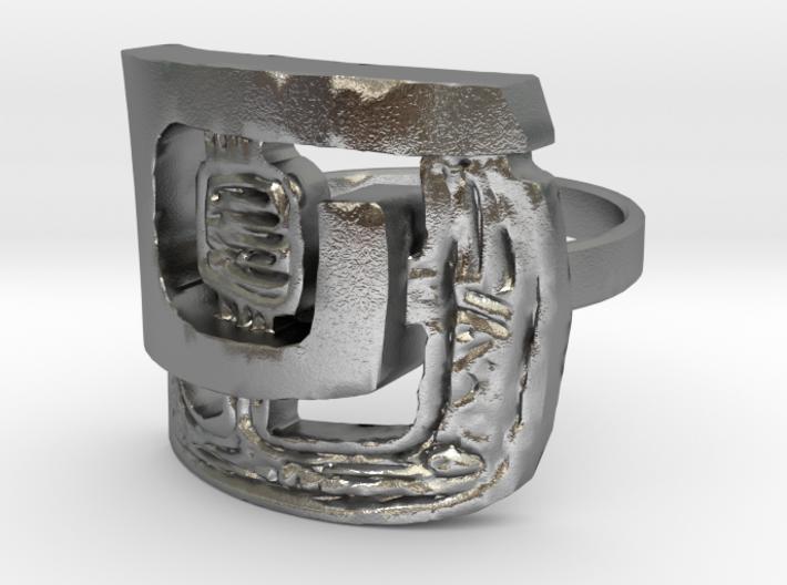 Retro 60 Design ring 3d printed