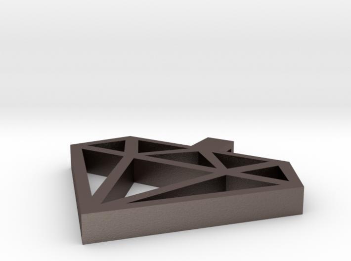 Isabelle Diamond Pendant 3d printed