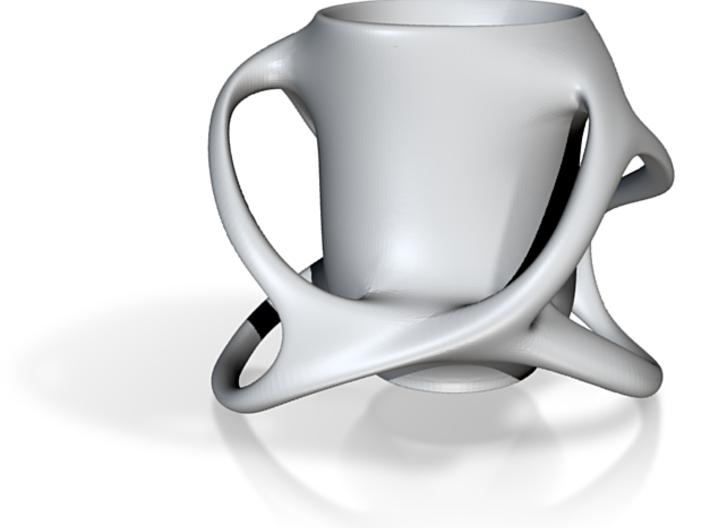 Coffee Cup with Six Handles 3d printed