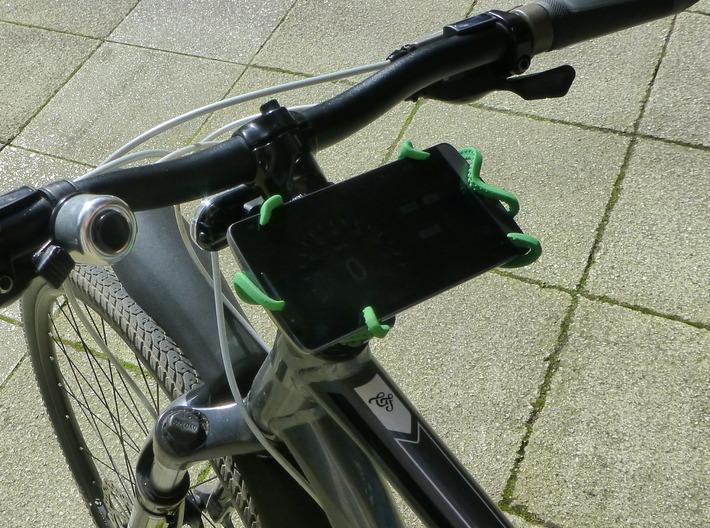 """Kraken Bike Mount for LG G3 (5.5"""" phones) 3d printed The Kraken mounted on a Trek 8.3DS holding my LG G3"""