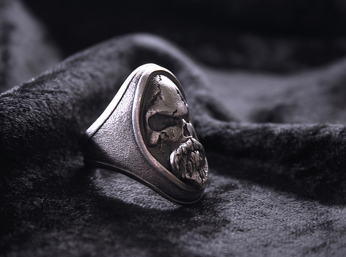 Ring Old Beard // Size US 10 3/4 3d printed