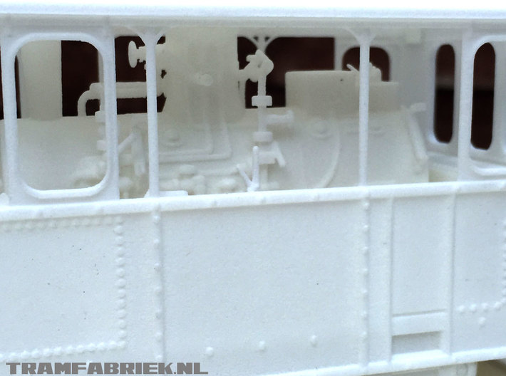 Gooische Stoomtram 18 'Leeghwater' in 1:45 3d printed Close up of print in WSF polished