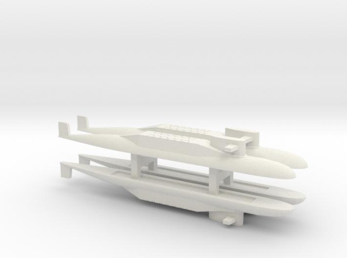PLA[N] 094 SSBN x 4, 1/1800 3d printed