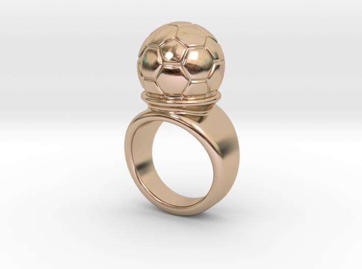 Soccer Ball Ring 26 - Italian Size 26 3d printed