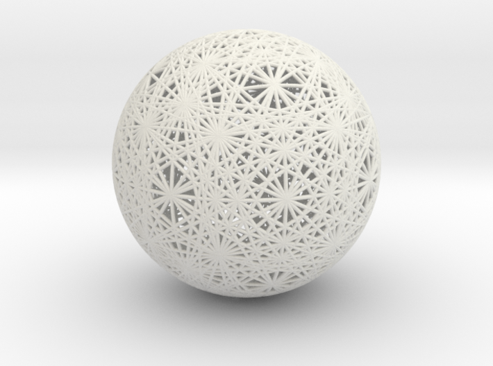 Vector Equilibrium Great Circles, Small 3d printed