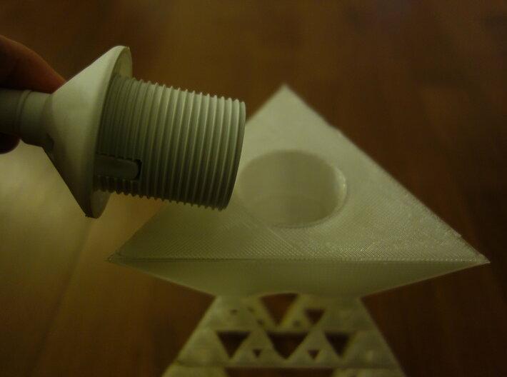 Sierpinski tetrix lamp shade 3d printed