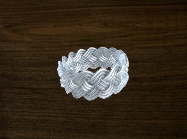 Turk's Head Knot Ring 4 Part X 15 Bight - Size 10 3d printed