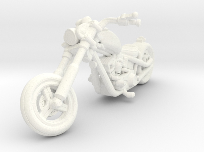 Harley Motorcycle Chopper 28mm miniature 3d printed