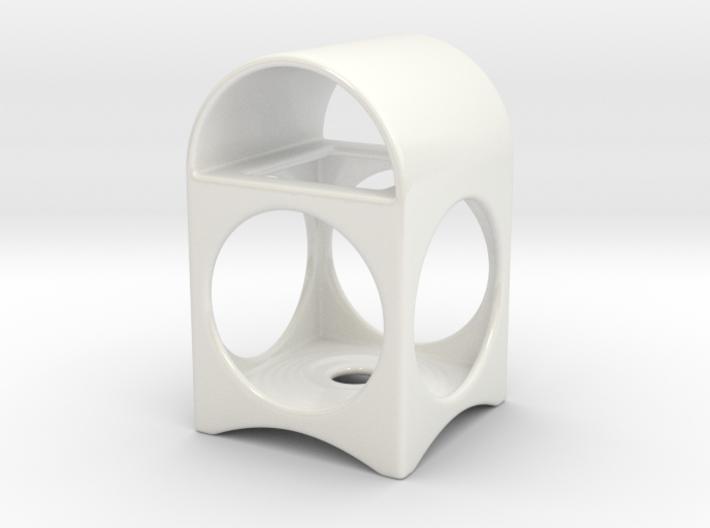 Ceramic Tea Light Lantern 3d printed Ceramic Tea Light Lantern - white
